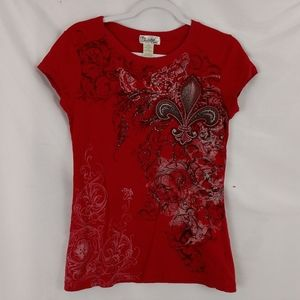 Twisted country graphic tee size large Jr red